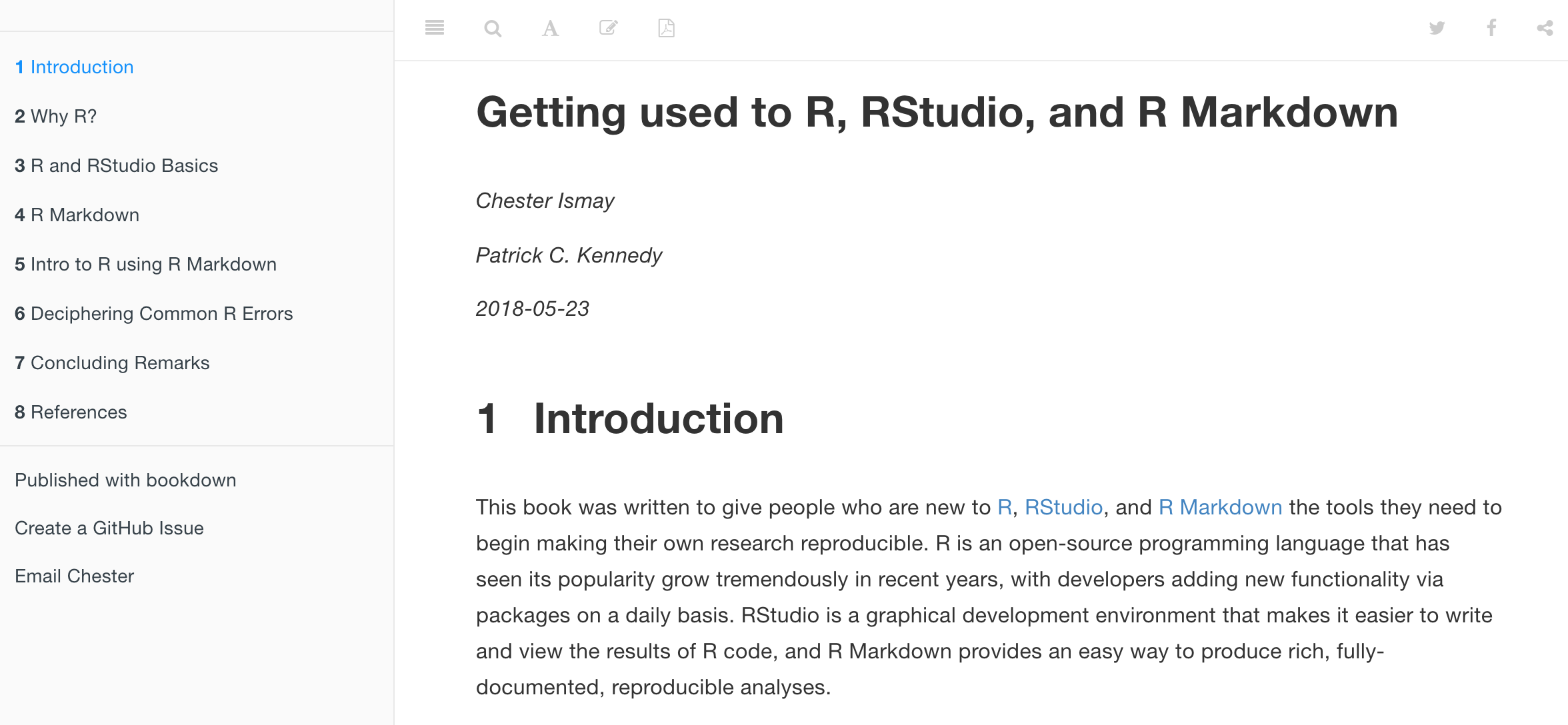 Preview of Getting Used to R, RStudio, and R Markdown.